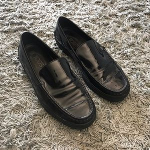 Tod's Patent Leather Loafers w/ Vibram Soles, 38